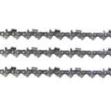 "3x Chainsaw Chains Semi Chisel 325 058 76DL for Raiden 20""-22"" Bar Saw Chain"