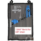 "Vallorbe Chainsaw File Kit 13/64"" Sharpening for 3/8"" Chain"