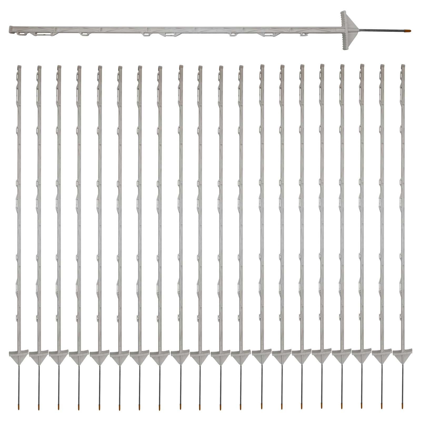 20x Insulated Multi Wire Electric Poly Posts for Electric Fence ...