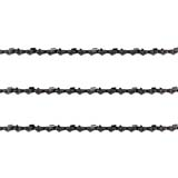 3x Semi Chisel Chains 3/8LP 043 52DL for MATRIX 20V X-ONE Cordless Chainsaw Saw