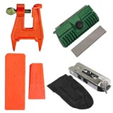 Chainsaw Tool Accessory Kit Pocket Pouch Bar Dresser Two Wedges Stump Vice