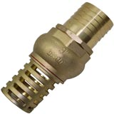 "Brass Foot Valve with 3"" 76.2mm BSP Male Thread Strainer Water Pump Hose Suction"