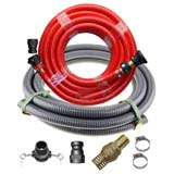 "Fire Fighting 20m x 1 inch Hose + Suction 2"" Hose Kit Fire Rated Water Pump"