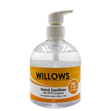4x 500ml Willows Hand Sanitiser -Alcohol (Vol%): 75 CE, ROHS and FDA Certifications