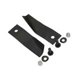 "2x Lawn Mower Blades & Bolts Kit Suits Cox 32"" Orion Lawnboss SKIT55 MB198ADH"