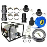 "6.5HP Electric Start Water Transfer Pump 4 Stroke Petrol 76mm 3"" + Hose Kit"