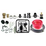 6.5HP Single Impeller Recoil Start Water Fire Fighting Fighter Pump And Hose Kit