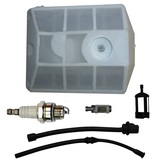Baumr-Ag SX62 62cc Chainsaw Service Kit Air Fuel Oil Filter + Hose + Spark Plug