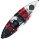 Pygme Sunrise Angler Kayak with 1 adjustable rod holder Red Black White