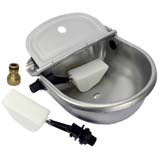 x8 Automatic Water Trough Stainless Steel Sheep Dog Chicken Cow Auto Fill Bowl