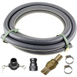 "1.5"" Inch 5m Suction Hose Camlocks Clamps Kit Water Fire Pump Foot Valve"