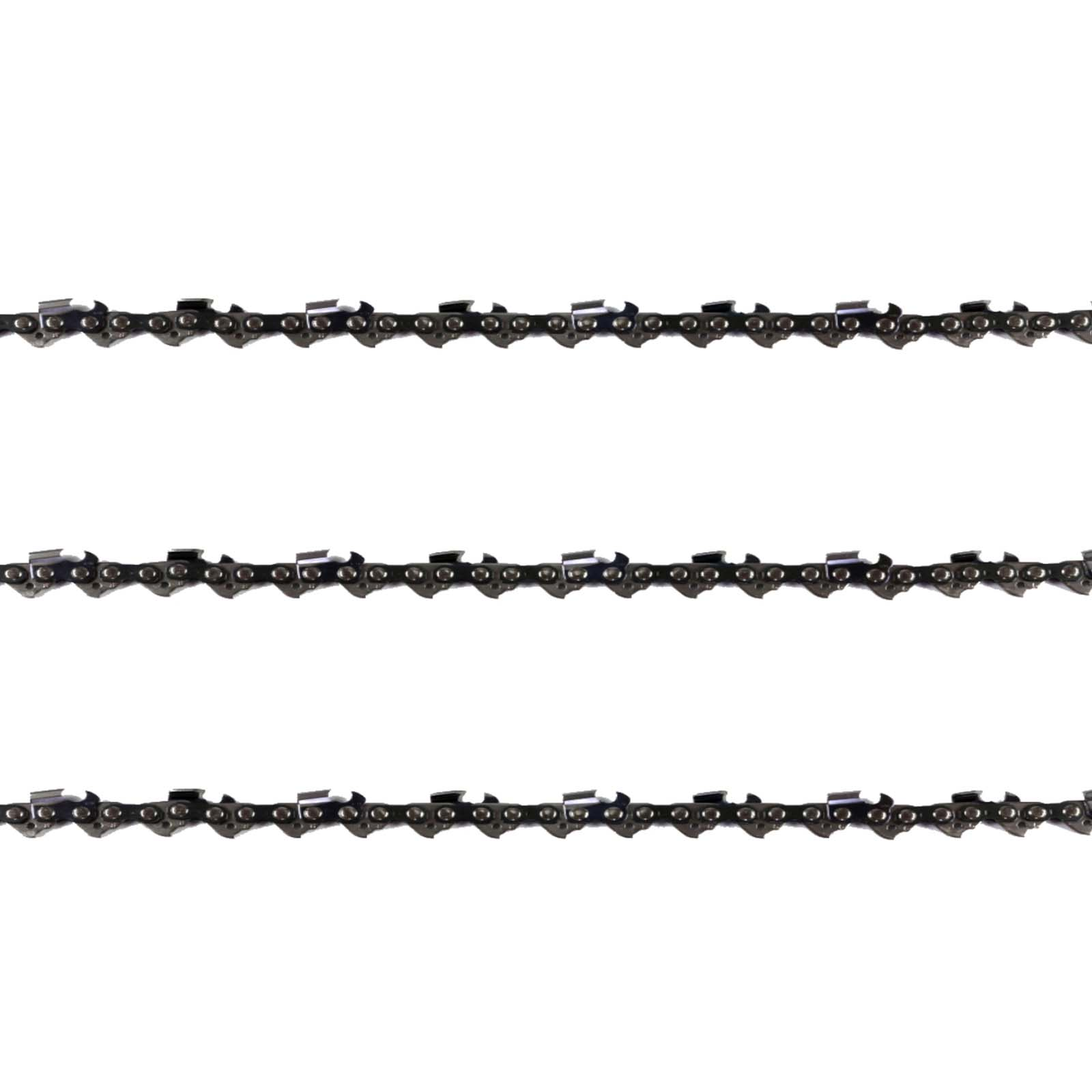 "3x Chainsaw Semi Chisel Chains 3/8LP 043 44DL for Black And Decker 12"" Bar"