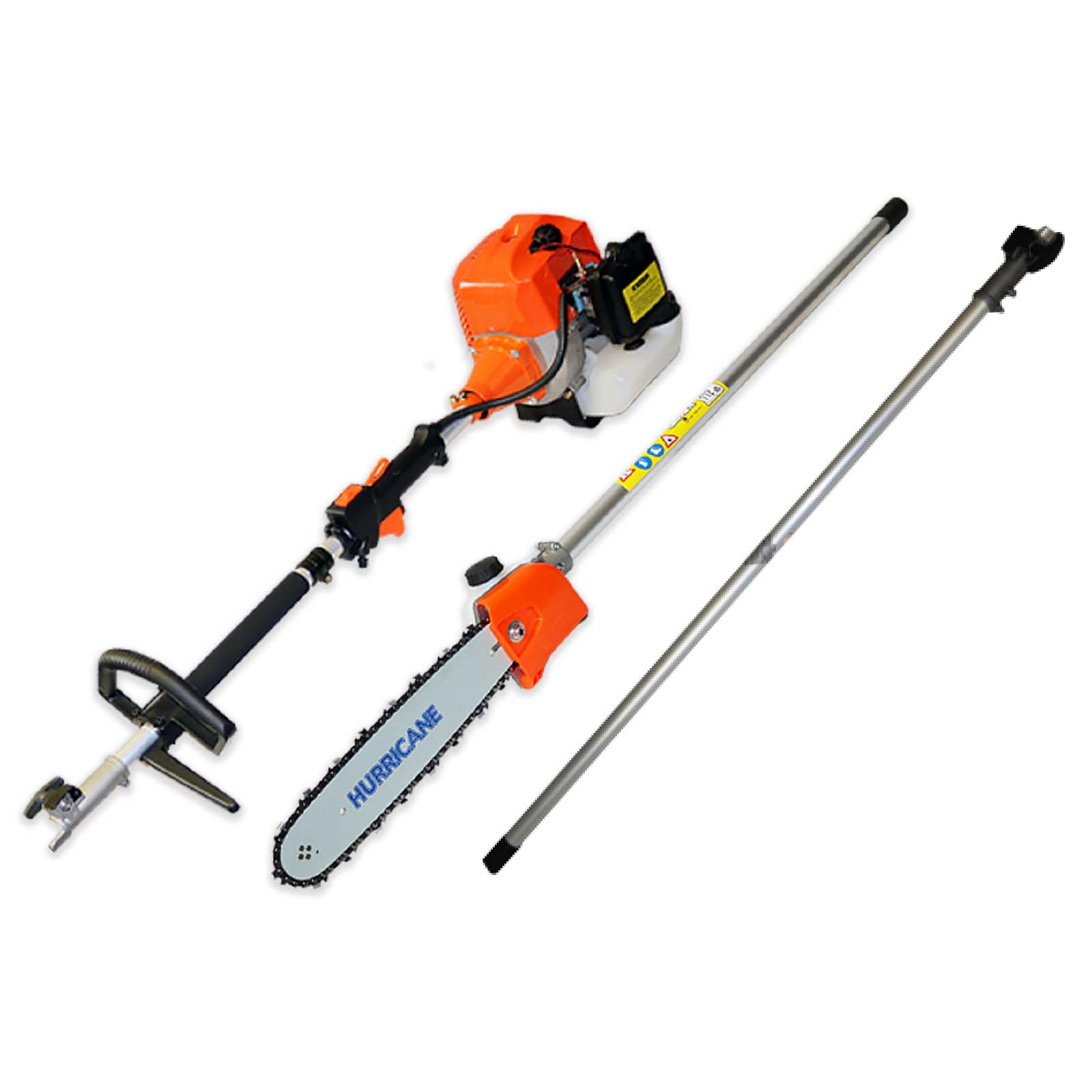 62cc Pole Saw Chainsaw attachment and Multi Tool power head combo