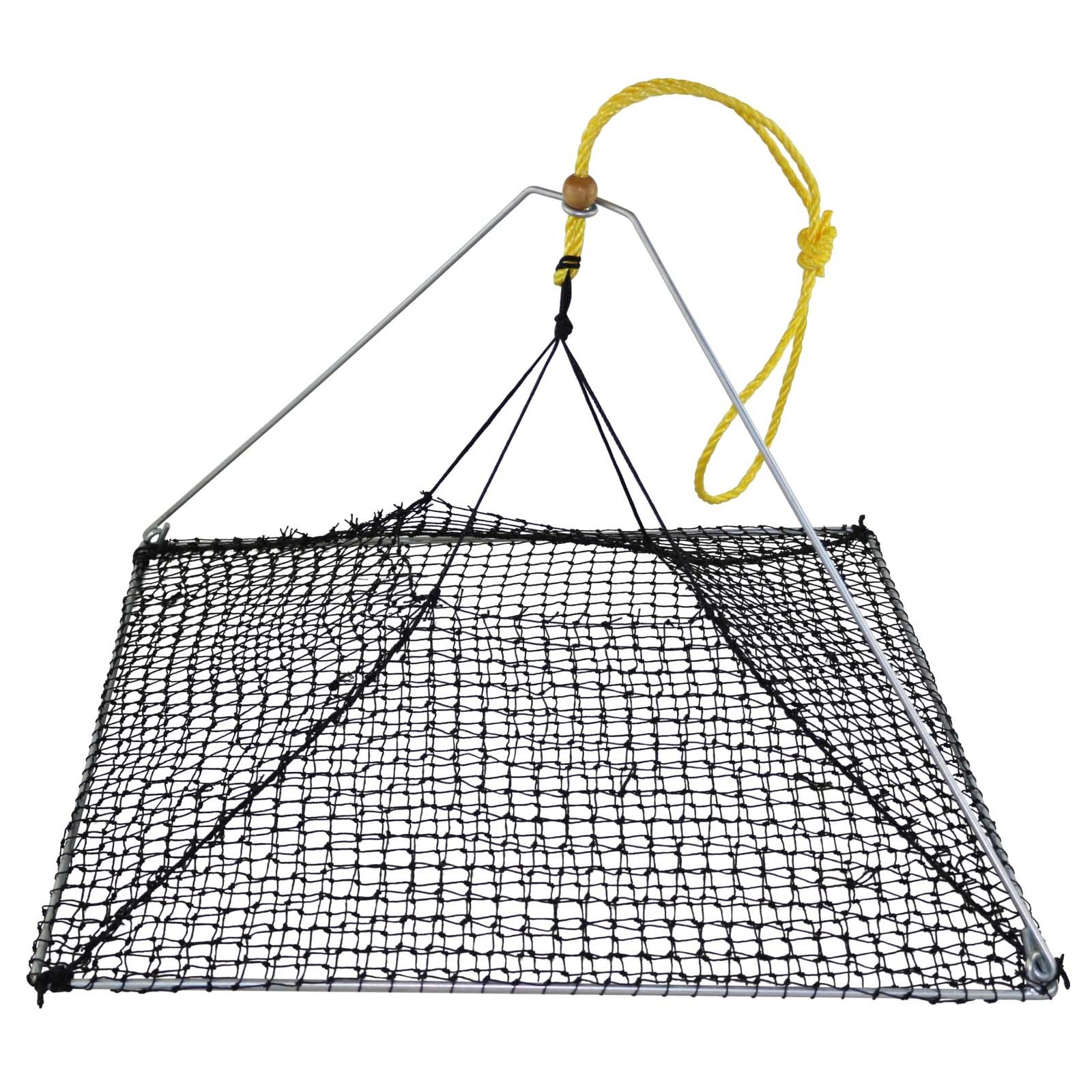 5x Square Folding Yabby Net Yabbie Pyramid Trap Pot Brand New